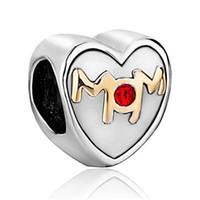 big love family - Metal Slider Spacer Big Hole Family Love Mom Birthstone Crystal European Bead Fit Pandora Chamilia Biagi Charm Bracelet