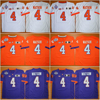 Wholesale 4 DeShaun Watson Clemson Tigers Stitched College Football Jerseys Wayne Gallman II Artavis Scott Sammy Watkins Jersey