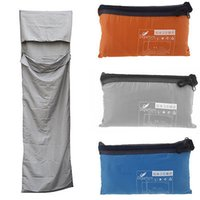 Wholesale 210 cm Ultra light Portable Single Sleeping Bag Liner Polyester Pongee Healthy Outdoor Camping Travel Blue Orange Grey