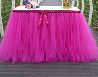 Wholesale 1Yard inch Tulle Tutu Table Skirt for Wedding Decoration Event Baby Shower Party Decor Supplies