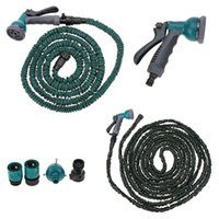 Wholesale 100FT Anself Garden Hose Fittings Set Flexible Water Pipe Faucet Connector Fast Connector Valve Multi functional Spray Nozzle order lt no tr