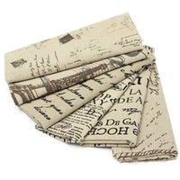 Wholesale 50 CM Cotton Linen Pattern Fabric DIY Doll Materials Craft Patchwork Cloth DIY Material