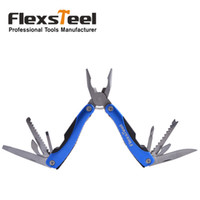 Wholesale 12 in Stainless Steel Multi tools Army Survival Multifunctional Pliers Screwdrivers Knife Can Opener File Saw Cutters and Bottle opener