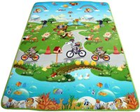 Wholesale 90cm cm EPE Moisture proof pad Picnic mat Wheel Mats Infant play mat Protect babies from knife Use in the bathroom crib