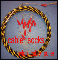 Wholesale 7mm nylon cable puller push pull rod duct rodder fish tape wire puller snake rod cable socks wire grip