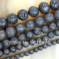 black lava beads - mm Natural Black Volcanic Lava Stone Round Beads quot Pick Size F00071