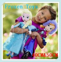 Wholesale Cartoon Forzen Baby Kids Stuffed Plush Toys Elsa And Anna Princess Dolls cm Children Frozen Dolls Toys