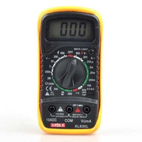 Wholesale XL L professional LCD Digital Multimeter Voltmeter Ohmmeter Ammeter OHM Voltage Current Tester
