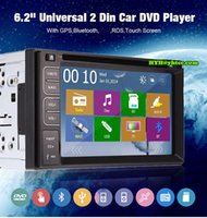 Wholesale Double Din Car DVD GPS Navigation with Microphone BT Audio TV Ipod inch Car DVD Player Bluetooth G