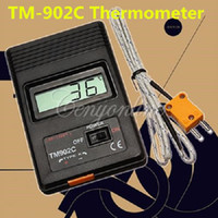 Wholesale Brand New TM C Black K Type Digital LCD Temperature Detector Thermometer Industrial Thermodetector Meter Thermocouple Probe