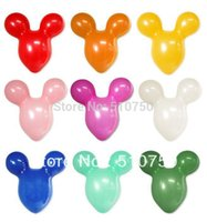 mouse animal - 50pcs Mickey Mouse Shape Balloon Animal Balloon Latex balloons for wedding birthday party celebration decoration