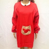Wholesale 2015 Long Sleeves Aprons waterproof Fashion creative cute kitchen aprons anti oil Pastoral Home Adult overall Home Textiles