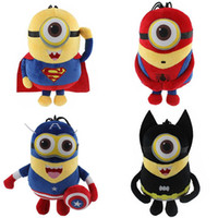 batman soft toys - Despicable me Minion Plush Toy The Avengers Spider man Batman Captain American Super Man Minion Stuffed Doll Soft Baby Toy EMS