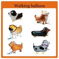 Wholesale Hot selling cute dog walking animal balloon helium balloons
