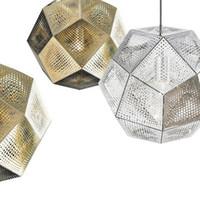 Wholesale Tom Dixon Etch Pendant Light Modern Ceiling Lamp Brass Ball Pendant Light Gold Silver Vintage Bar Lamp cmn cm Chandeliers Pendent Lamps