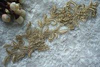 beautiful trim - Appliques Beautiful Gold Lace Trims Lace Applique Sewing Trims DIY Crafts