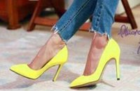 Wholesale 2016 New arrival sexy wedding shoes high heels women dress shoes shiny club shoes party shoes NSDX90