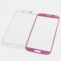 Wholesale New Arrivel Front Outer Touch Screen Glass lens For Samsung Galaxy S3 S4 S5 I8190 SIII With Black White Blue Pink