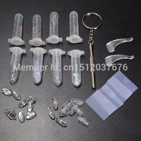 Wholesale New Eyeglass Optical Repair Tool Sun Glasses Screw Nut Nose Pad Set Assortment Kit