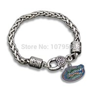 Celtic bead chain suppliers - China Supplier Metal Tibetan Silver Enamel Carved Florida Gators Sports Team Charms Lobster Clasp Bracelets For Men