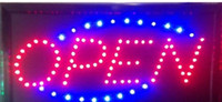 neon open sign - Animated Motion LED Business Vertical Open SIGN On Off Switch Bright Light Neon