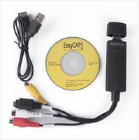 Wholesale Promotion Price New USB Easycap tv dvd vhs video Capture adapter Easy cap card Audio AV mmm for vista win8 win7 XP Fast