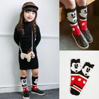 cartoon children socks - Korean Style Children Socks Infant Boys and Girls Years Old Cotton Cartoon Mickey in Tube Socks to Knee