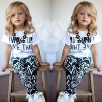 girls white shirts - 2015 Baby Girls Zebra stripe White T Shirt Pants Two pieces Outfits Set Y