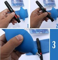 Wholesale 3 in Lens Cleaning Cleaner Dust Pen Blower Cloth Kit For DSLR VCR Camera