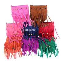 Wholesale NEW Fashion Children Tassel bag Kid s Shoulder bag Women s Messenger Bags Vintage Tassels Bags Cross Body All match Girl Handbag