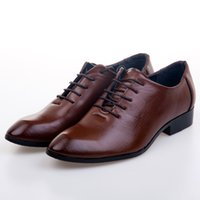 Wholesale Cheap Groom Wedding Shoes Man Breathe freely Leather Shoes Business Dress Shoe Single shoes DY Brown