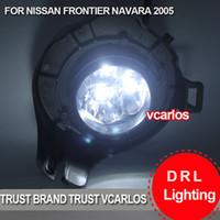 Cheap Free Gifts + Free Shipping LED Car Fog Light for NISSAN NAVARA 2011~ON Clear Lens PAIR SET + Wiring Kit