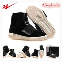 Wholesale Famous Trainers Kanye West Yeezy Boost Suede Mens Casual Martin Boots Black White