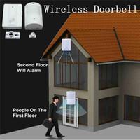 Wholesale Convinient Smart Wireless Infrared Sensor Doorbell Monitor Sensor Detector Entry Plastic Doorbell Alarm Transmitter