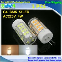 bright color led bulb - G4 W super Bright LED lamp V candle light LED Bulb White Warm white color