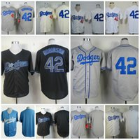 angeles mix - cheap stitched Los Angeles LA Dodgers shirts Jackie Robinson th patch throwback baseball Jerseys Rugby Jersey White Mix Order