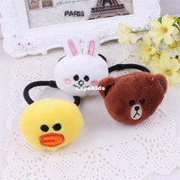 band duck - Xayakids Hairpin South Korea Brown bear duck rabbit hair rope children Tousheng wacky hair headdress fashion rubber band Baby Head