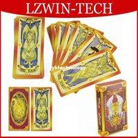 Wholesale CardCaptor Sakura Magical Clow Cards Captor Cosplay Golden Color Playing Card