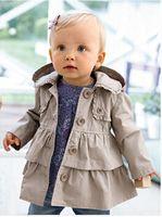 Wholesale Hot Sale Baby Girl Hoodie Single Breasted Wind Coat