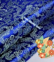antique doll clothes - 2m width cm AAChinese clothing Brocade cloth doll dress costume Hanfu antique garments fabrics brocade Blue Dragon