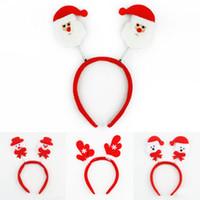Presentes New Natal Promoção de Natal Toy Cabelo Hoop Papai Noel Boneco Cerveja dos cervos Headband Decoração de Natal