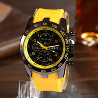big face - 50mm Large Face Fashion Casual Mens Watches Silicone Strap Big Case Quartz Analog Luxury Wristwatch Drop Shipping