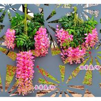 2015 Самый популярный Элегантный искусственный шелк цветок Глициния Vine Ротанг для украшения Свадебный букет центральные части Garland Home орнамент