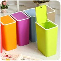 Wholesale Creative lovely rectangular living room bedroom kitchen toilet kitchen toilet large press type garbage can