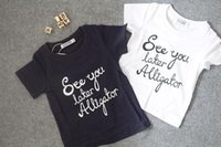 alligator t shirt - new summer fashion kids see you later alligator letter print cotton navy t shirts