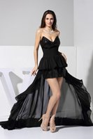advance party - Advanced Customization Sweetheart Hand Made Sewing Sequins Hi Lo Sexy Little Black Dresses Latest Party Dress Hot Design For Ladies