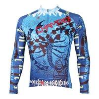 Wholesale The King Scorpion waterproof mountain bike long sleeved mtb coolest jersey for winter blue