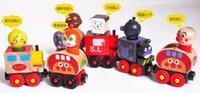 Wholesale Hot sale Wooden Magnet Train Anpanman train Small Cars children Educational Toys H