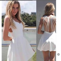 Cheap Charming Ivory Short Party Dresses 2015 Sweetheart Neck Hollow Back Cut Out Casual Cocktail Prom Dress Cheap Under 50 FY1587
