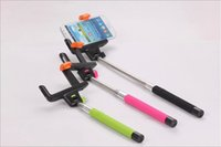 Wholesale Z07 Wireless Bluetooth Selfie Stick Telescopic Extendable Monopod Go Pro iPhone Android Samsung HTC Camera Retail Package